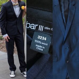 Prom Season Slim Fit 100% Lightweight Wool Suit
